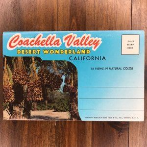 Vintage Coachella Valley CA Travel Postcard Book